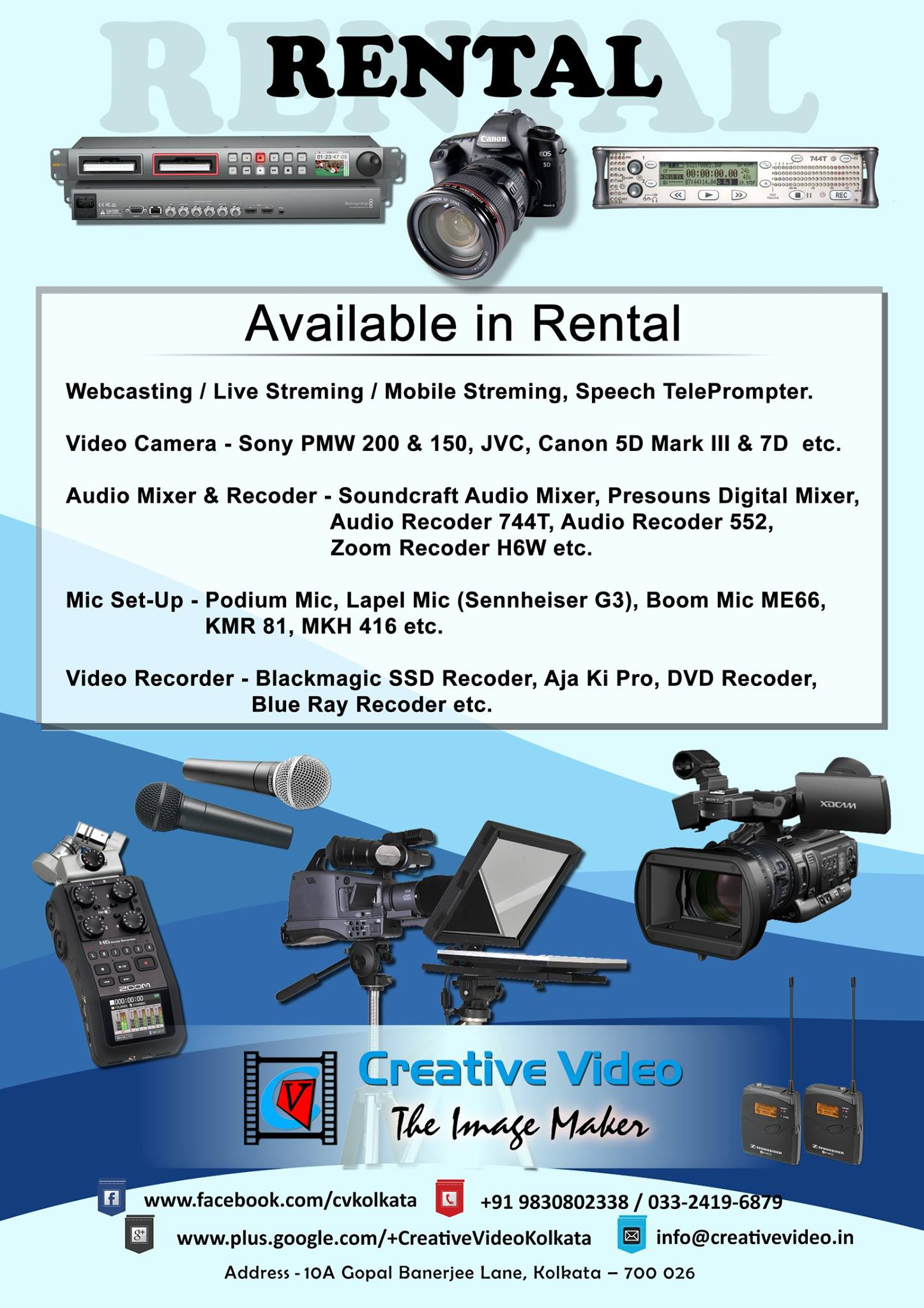 Audio Video Equipement Rental | Kolkata